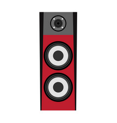 isolated red speaker vector image
