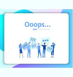 Landing page templates error page vector