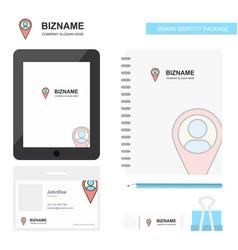 Location business logo tab app diary pvc employee vector