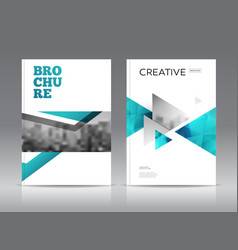 Magazine cover layout design template set vector