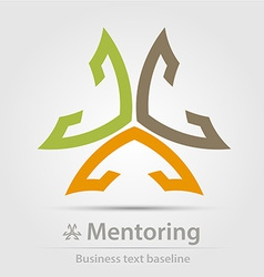 Mentoring business icon vector