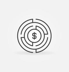 Money labyrinth concept icon vector