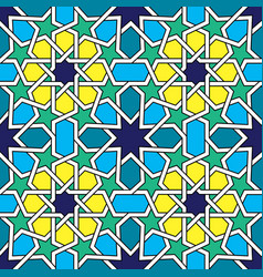 Moroccan tiles pattern moorish seamless design vector