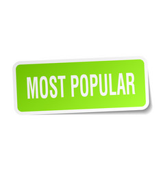 Most popular square sticker on white vector
