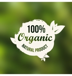 natural organic food label Natural product vector image
