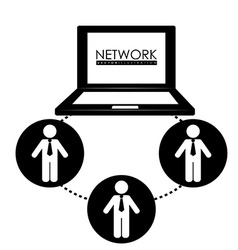 Network design vector image