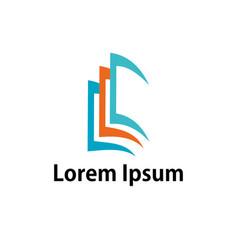 open book education logo vector image
