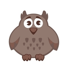 Owl funny cartoon character cute icon vector