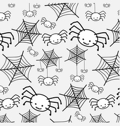 pattern white spider funny cute cartoon vector image
