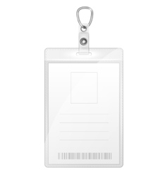 Plastic badge for person identification vector