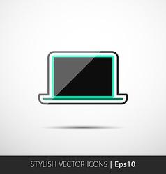 polygonal laptop vector image