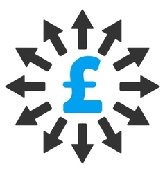 Pound Money Distribution Flat Icon Symbol vector