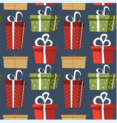 presents and gifts decorated with wrapping paper vector image