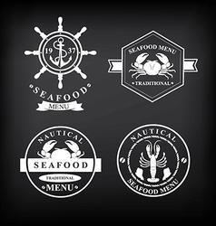 restaurant menu set seafood template design vector image