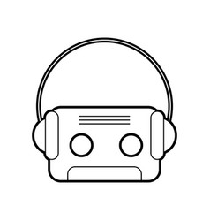 retro cassette with earphones vector image