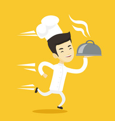 running chef cook vector image