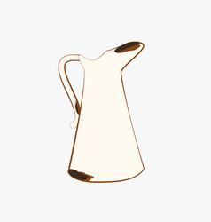 Rusty jug vector