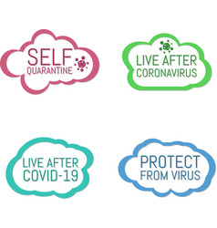 Self quarantine live after coronavirus live vector