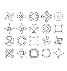 Set of geometric hipster shapes 972211d443d vector