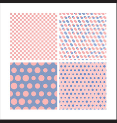 set seamless pattern image vector image