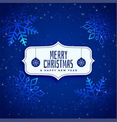 shiny blue sparkle christmas background vector image