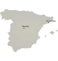 spain gray map vector image