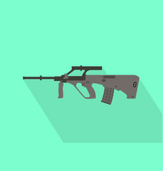Steyr riffle gun with flat long shadow style vector