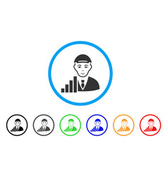 stock trader rounded icon vector image