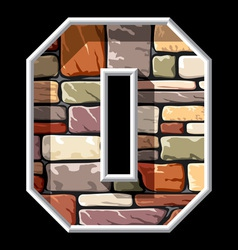 stone letter O vector image