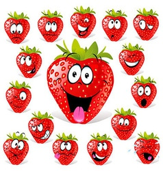 Strawberry cartoon vector