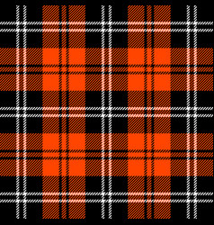 Tartan plaid pattern scottish cage vector