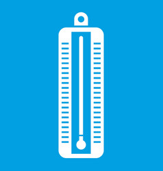 Thermometer indicates low temperature icon white vector
