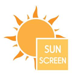 uv sun screen logo flat style vector image
