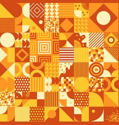 Vintage retro bauhaus style seamless pattern vector