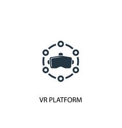 Vr platform icon simple element vector