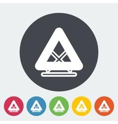 Warning triangle single icon vector image