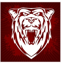 White bear head - emblem vector image