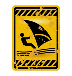 Windsurf area sign vector