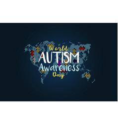 World autism awareness day vector