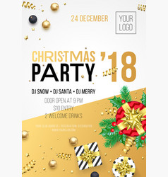 year 2018 party invitation poster vector image