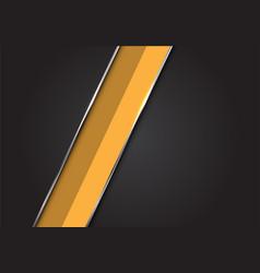yellow silver line slash dark grey black hexagon vector image