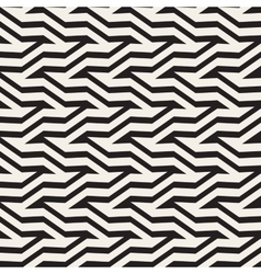 ZigZag Edgy Stripes Optical Effect vector image