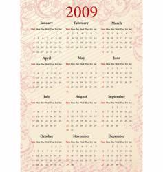 american pink calendar vector image vector image