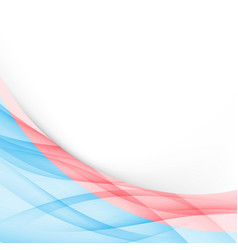 blue and red modern folder border template vector image vector image