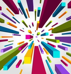 flying cubes background vector image vector image