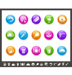 Food Icons Set 2 of 2 Rainbow Series vector image vector image