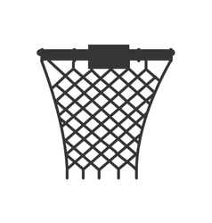 hoop net basketball front vector image