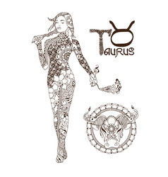 Stylized zodiac sign of taurus vector