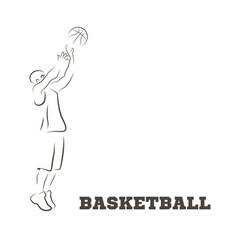 abstract basketball and streetball poster vector image