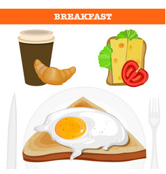 Full english and american breakfast vector